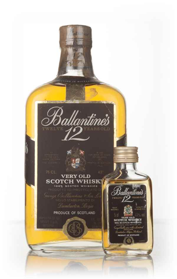 Ballantine's 12 Year Old with 5cl Miniature - 1970s