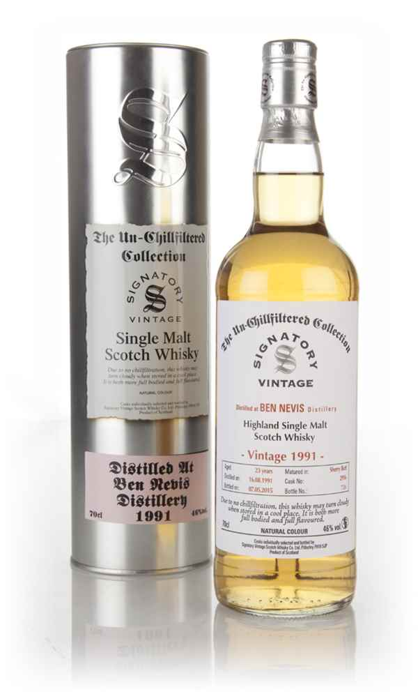 Ben Nevis 23 Year Old 1991 (cask 2916) - Un-Chillfiltered (Signatory)
