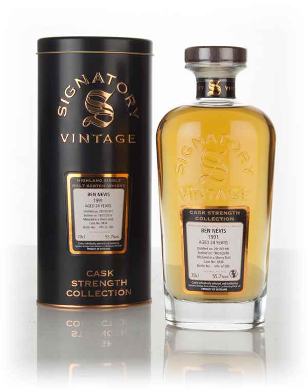 Ben Nevis 24 Year Old 1991 (cask 3834) - Cask Strength Collection (Signatory)