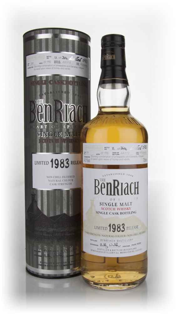 BenRiach 29 Year Old 1983 Refill Hogshead
