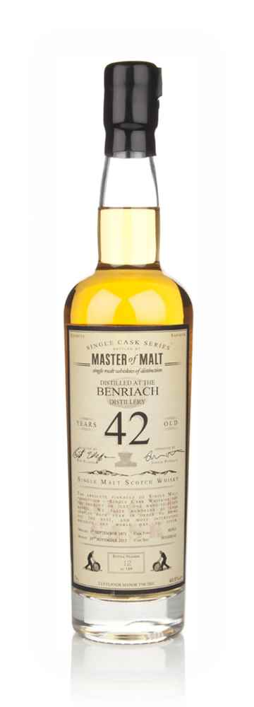 BenRiach 42 Year Old 1971 - Single Cask (Master of Malt)