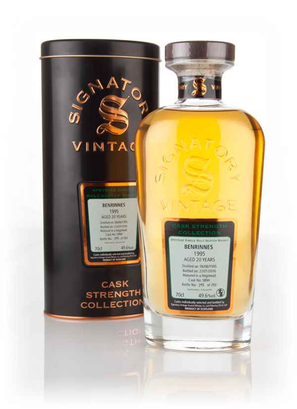 Benrinnes 20 Year Old 1995 (cask 5894) - Cask Strength Collection (Signatory)