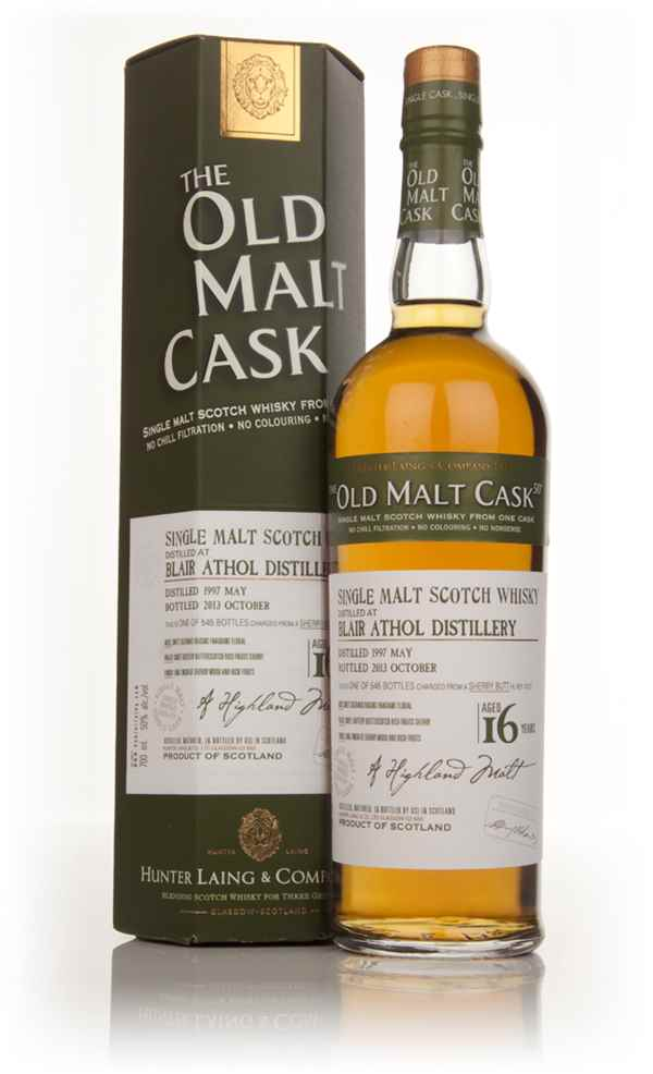 Blair Athol 16 Year Old 1997 (cask 10127) - Old Malt Cask (Hunter Laing)