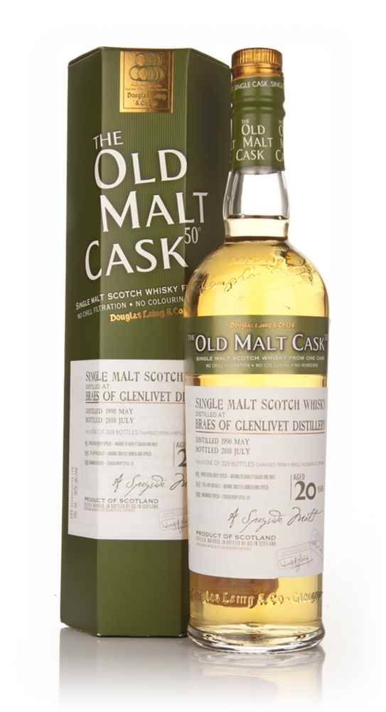 Braes of Glenlivet 20 Year Old 1990 - Old Malt Cask (Douglas Laing)