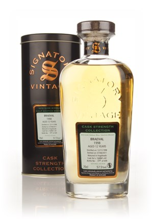 Braeval 12 Year Old 1998 (casks 168861 +62) - Cask Strength Collection (Signatory)