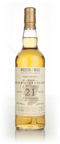 Braes o' Glenlivet 21 Year Old - Single Cask (Master of Malt)