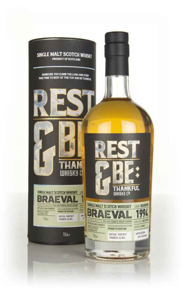 Braeval 22 Year Old 1994 (cask 165593) (Rest & Be Thankful)