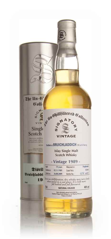 Bruichladdich 19 Year Old 1989 - Un-Chillfiltered (Signatory)