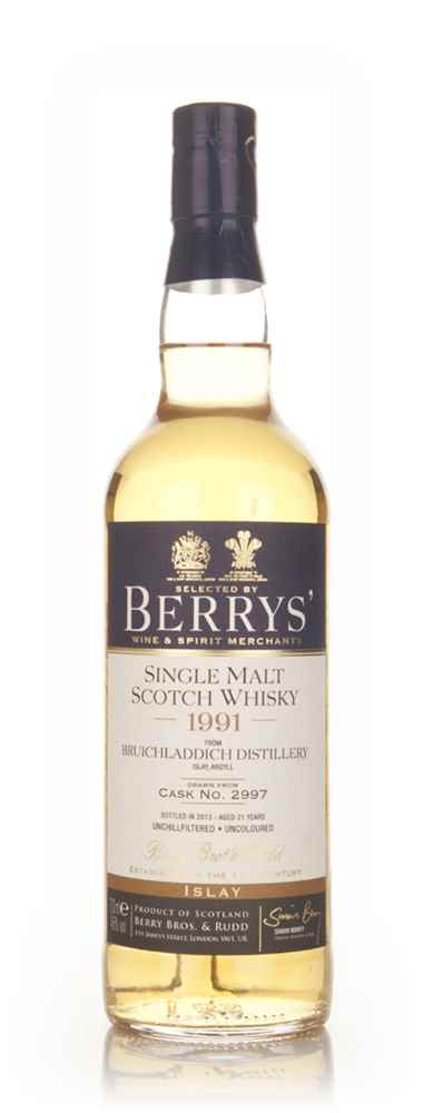 Bruichladdich 21 Year Old 1991 (cask 2997) - (Berry Bros. & Rudd)