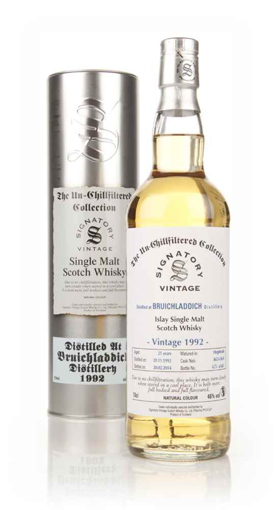 Bruichladdich 21 Year Old 1992 (casks 3651+3654) - Un-Chillfiltered (Signatory)