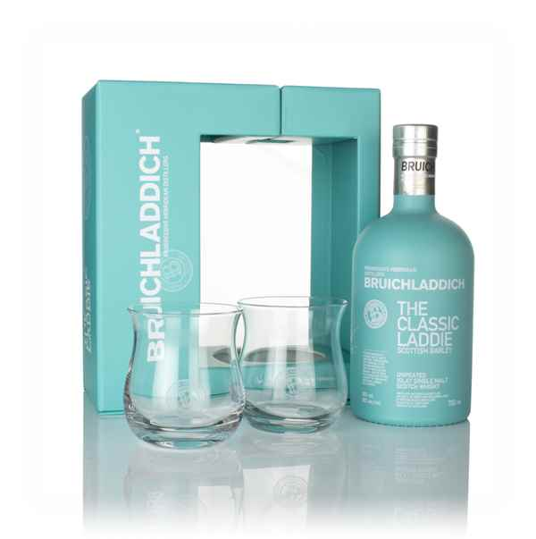 Bruichladdich The Classic Laddie Gift Pack with 2x Glasses