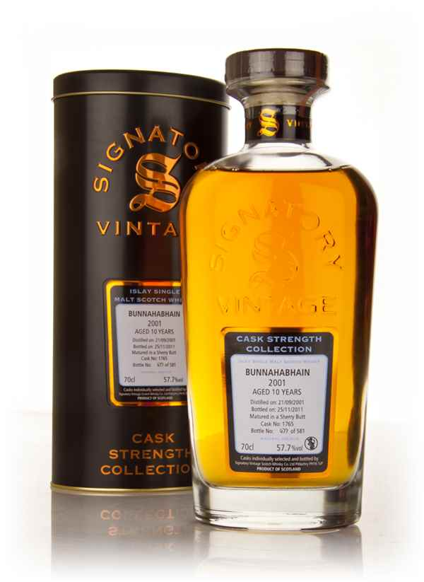 Bunnahabhain 10 Year Old 2001 - Cask Strength Collection (Signatory)