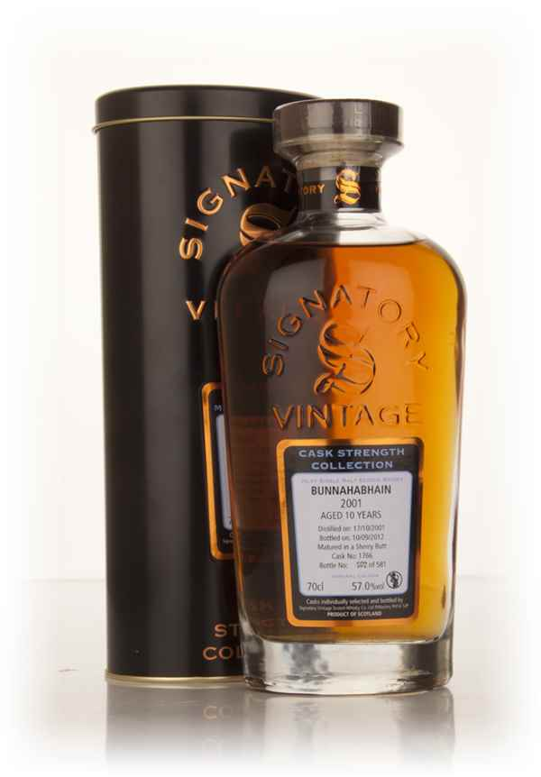 Bunnahabhain 10 Year Old 2001 (cask 1766) - Cask Strength Collection (Signatory)