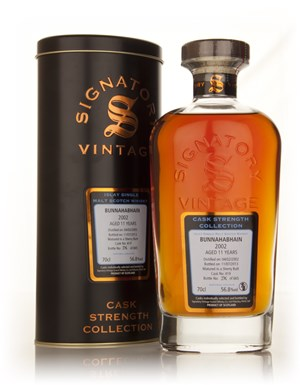 Bunnahabhain 11 Year Old 2002 (cask 419) - Cask Strength Collection (Signatory)