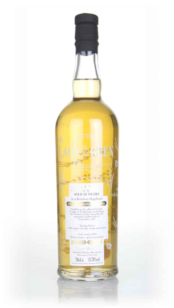 Bunnahabhain 28 Year Old 1989 (cask 5836) - Lady of the Glen (Hannah Whisky Merchants)