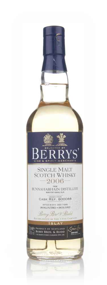 Bunnahabhain 7 Year Old 2006 (cask 800088) (Berry Bros & Rudd)