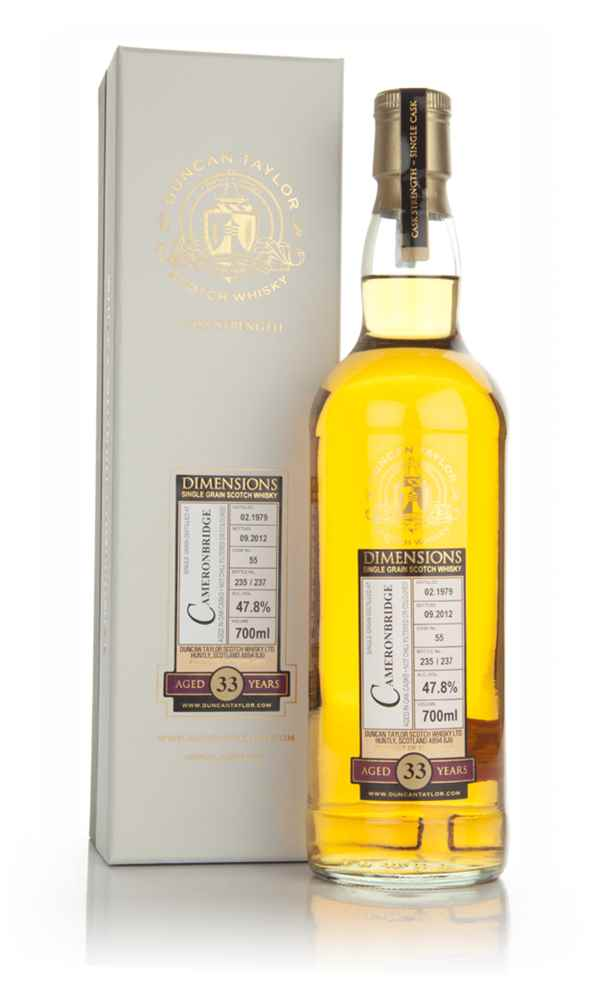 Cameronbridge 33 Year Old 1979 Cask 55- Dimensions (Duncan Taylor)