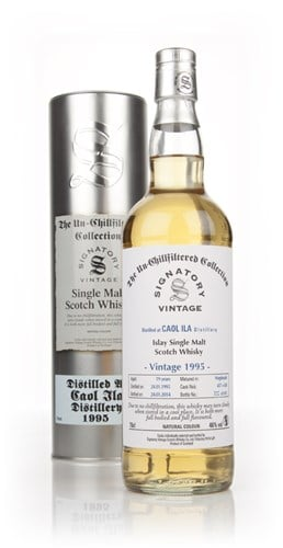 Caol Ila 19 Year Old 1995 (casks 457+458) - Un-Chillfiltered (Signatory)