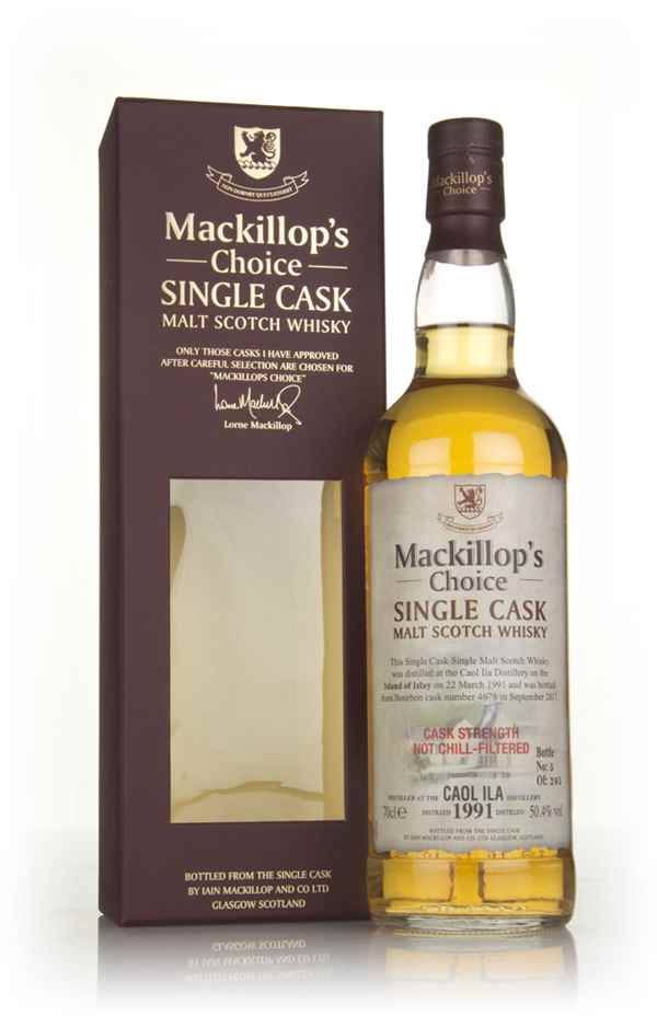 Caol Ila 26 Year Old 1991 (cask 4678) - Mackillop's Choice