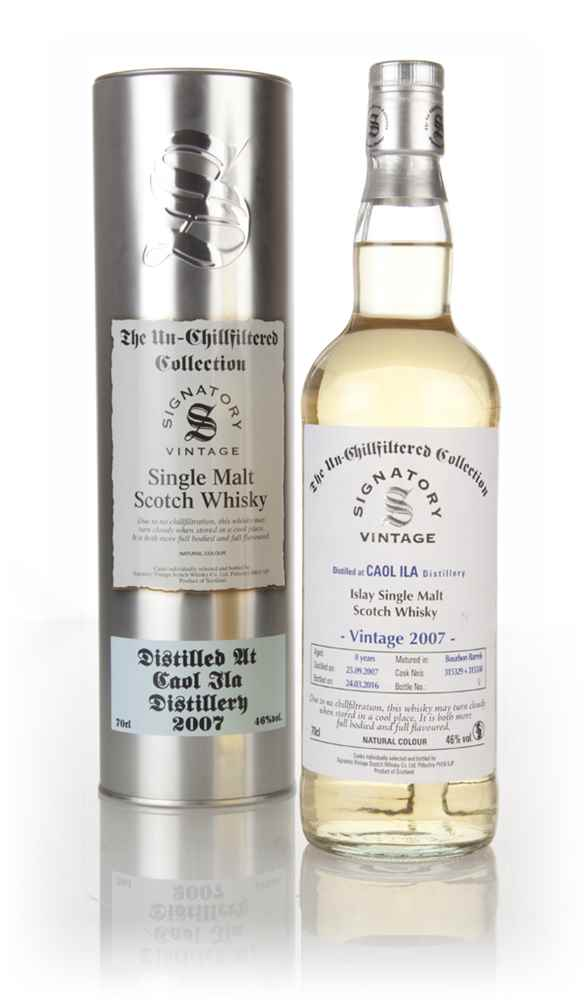 Caol Ila 8 Year Old 2007 (casks 315329 & 215330) - Un-Chillfiltered Collection (Signatory)