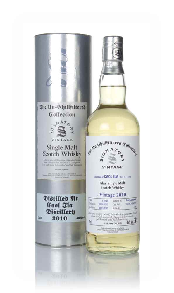 Caol Ila 8 Year Old 2010 (casks 316315 & 316317) - Un-Chillfiltered Collection (Signatory)