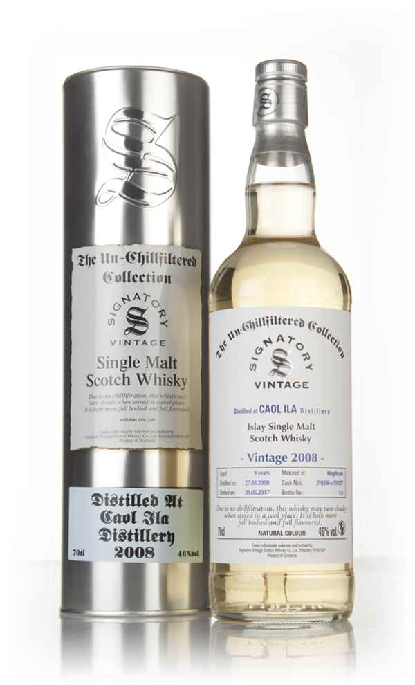 Caol Ila 9 Year Old 2008 (casks 310356 & 310357) - Un-Chillfiltered Collection (Signatory)