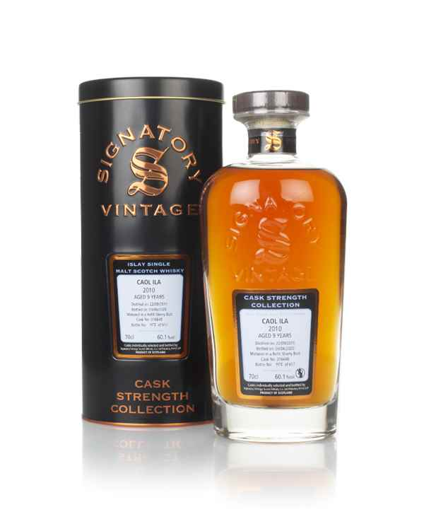 Caol Ila 9 Year Old 2010 (cask 316648) - Cask Strength Collection (Signatory)