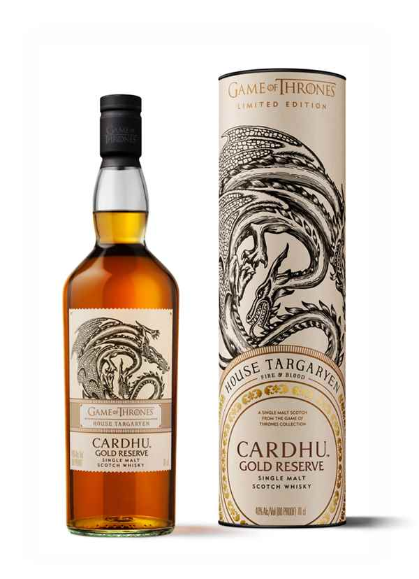 House Targaryen & Cardhu Gold Reserve - Game of Thrones Single Malts Collection