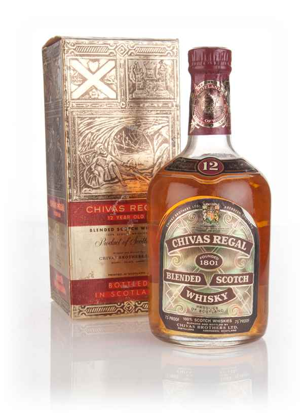 Chivas Regal 12 Year Old (Gold Box) - 1970s