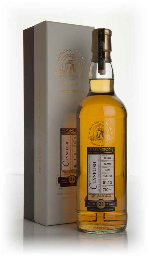 Clynelish 21 Year Old 1990 - Dimensions (Duncan Taylor)