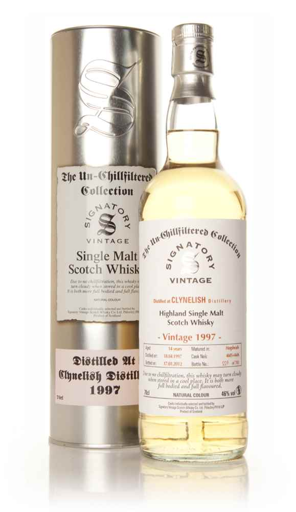 Clynelish 14 Year Old 1997 - Un-Chillfiltered (Signatory)