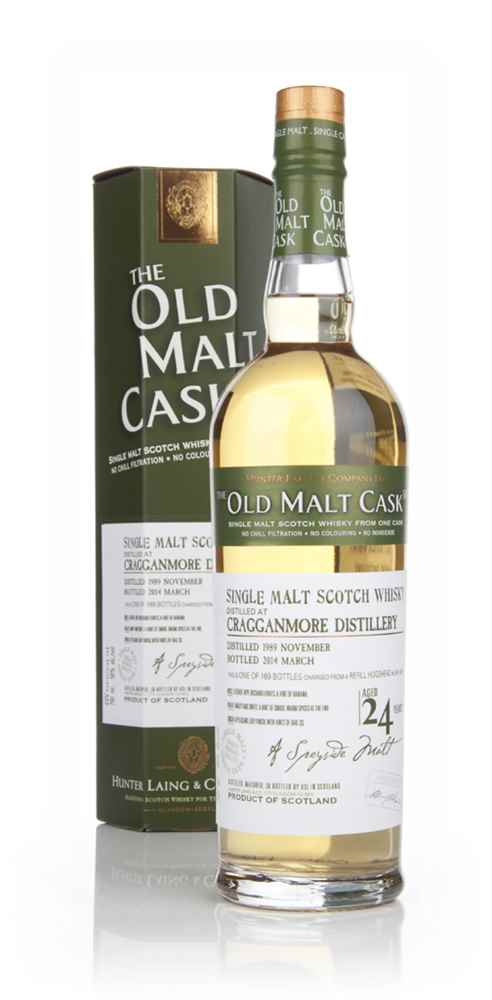 Cragganmore 24 Year Old 1989 (cask 10375) - Old Malt Cask (Hunter Laing)