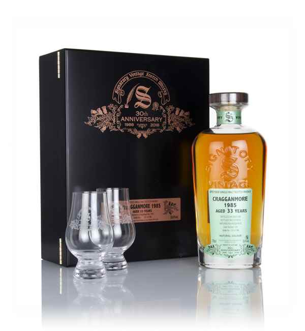 Cragganmore 33 Year Old 1985 (cask 1241) - 30th Anniversary Gift Box (Signatory)