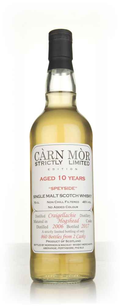 Craigellachie 10 Year Old 2006 (bottled 2017) - Strictly Limited (Càrn Mòr)