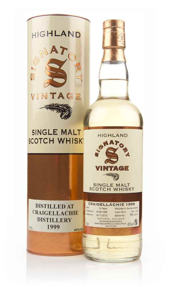 Craigellachie 14 Year Old 1999 (cask 148+149) (Signatory)