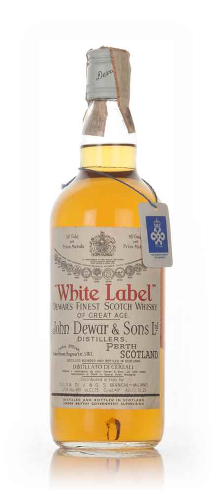 John Dewar & Sons White Label Scotch Whisky - 1960s