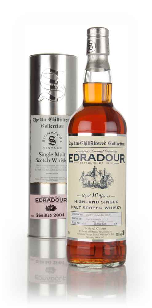 Edradour 10 Year Old 2004 (cask 406) - Un-Chillfiltered Collection (Signatory)