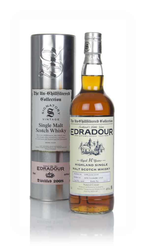 Edradour 10 Year Old 2008 (cask 165) - Un-Chillfiltered Collection (Signatory)