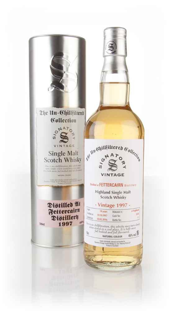 Fettercairn 18 Year Old 1997 (cask 5618) - Un-Chillfiltered (Signatory)