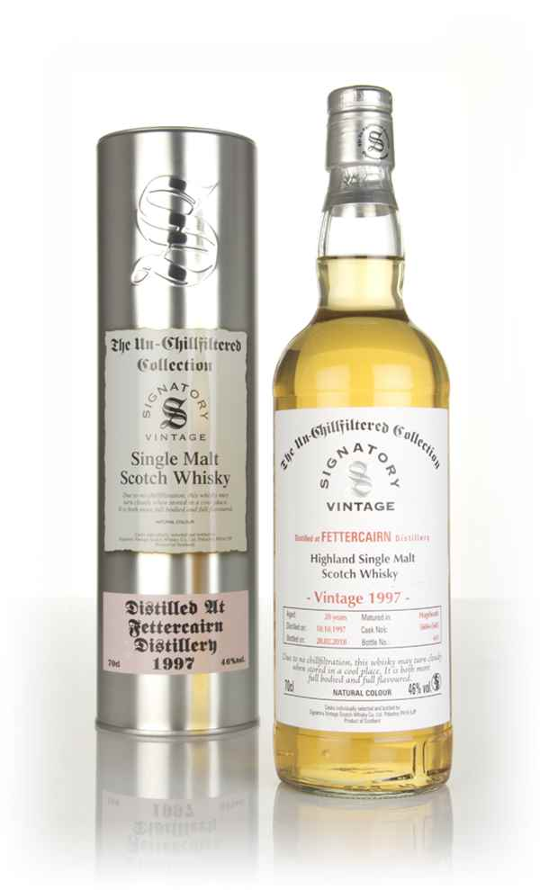 Fettercairn 20 Year Old 1997 (casks 5604 & 5605) - Un-Chillfiltered Collection (Signatory)