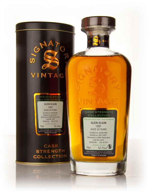 Glen Elgin 20 Year Old 1991 - Cask Strength Collection (Signatory)