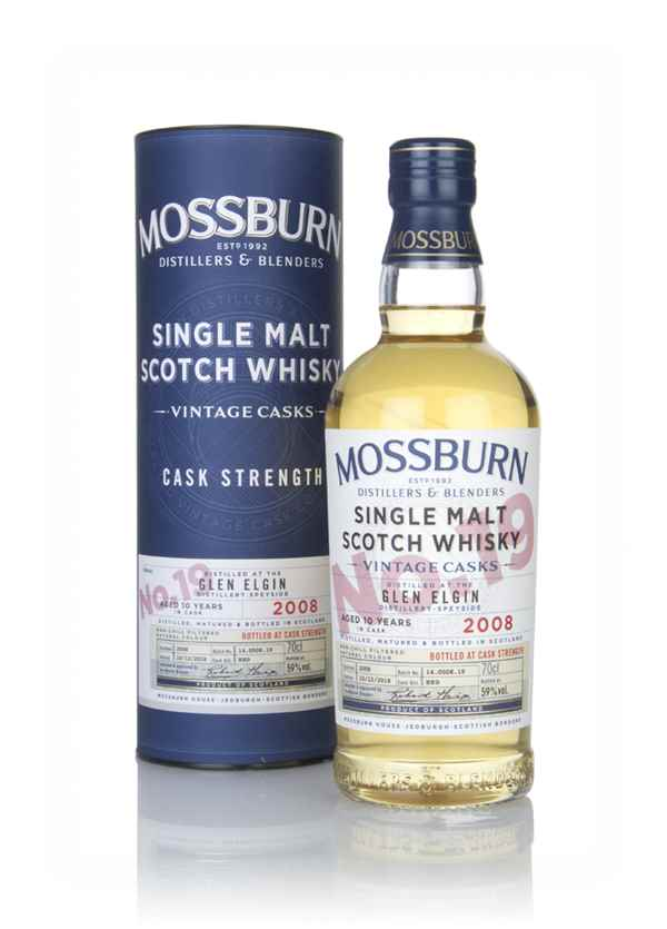 Glen Elgin 10 Year Old 2008 - Cask Strength (Mossburn)