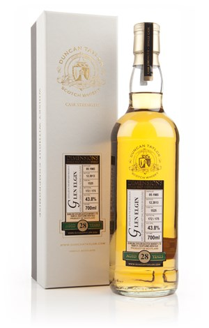Glen Elgin 28 Year Old 1985 (cask 1525) - Dimensions (Duncan Taylor)
