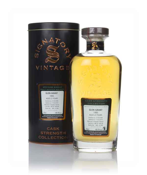 Glen Grant 23 Year Old 1995 (casks 88187 & 88188) - Cask Strength Collection (Signatory)