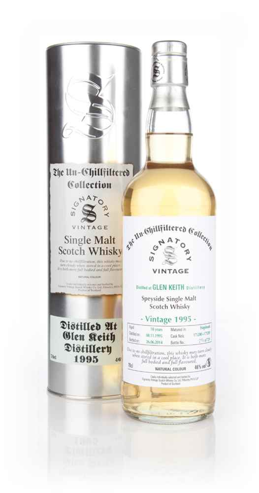 Glen Keith 18 Year Old 1995 (casks 171200+171201) - Un-Chillfiltered (Signatory)