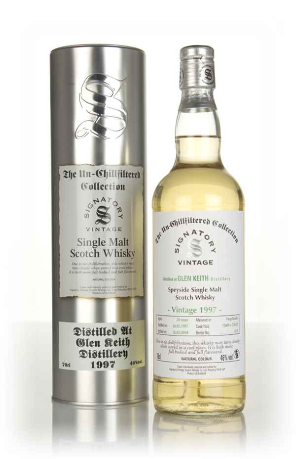 Glen Keith 20 Year Old 1997 (cask 72609 & 72610) - Un-Chillfiltered Collection (Signatory)