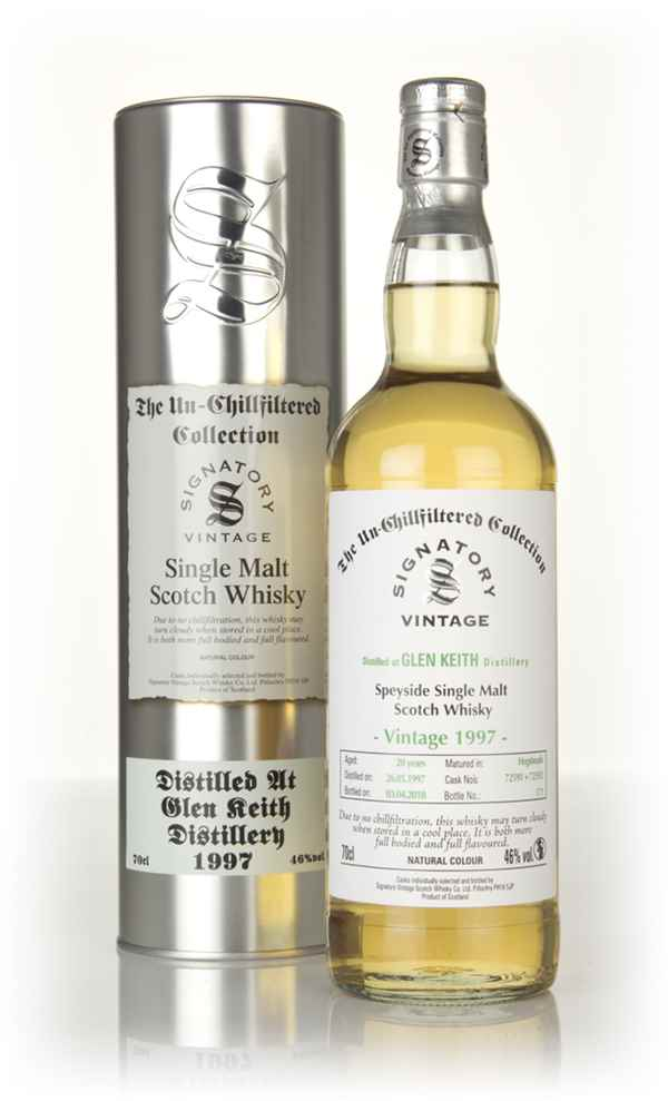 Glen Keith 20 Year Old 1997 (casks 72591 & 72592) - Un-Chillfiltered Collection (Signatory)