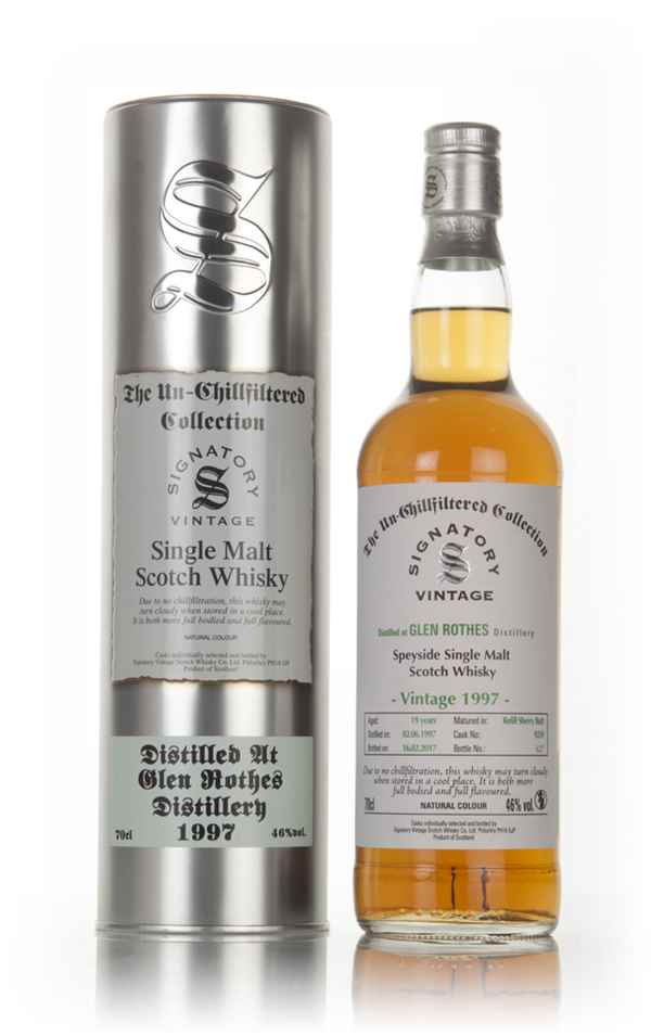 Glenrothes 19 Year Old 1997 (cask 9259) - Un-Chillfiltered Collection (Signatory)