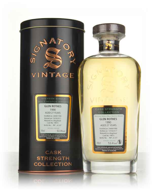 Glenrothes 27 Year Old 1990 (cask 19015) - Cask Strength Collection (Signatory)
