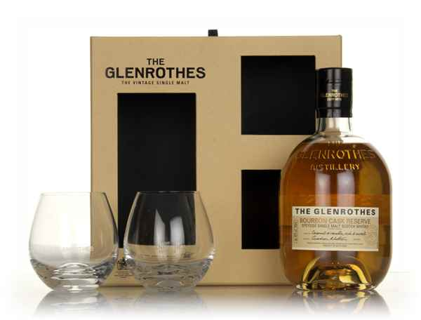 The Glenrothes Bourbon Cask Reserve Gift Pack with 2x Glasses